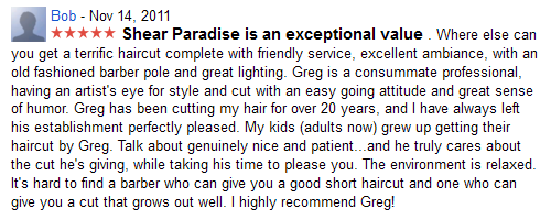 Shear Paradise is an exceptional value...