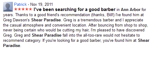 I've been searching for a good barber...