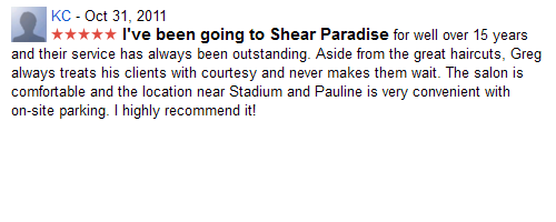 I highly recommend Shear Paradise...