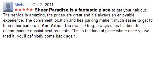 Shear Paradise is a fantastic place...